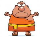 S'engueuler avec un moine, mauvais pour le Karma ?
