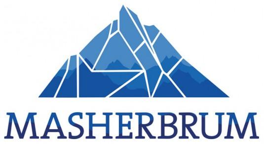 design.logo.montagne.masherbrum.bleu