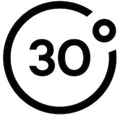 30.degres.magazine.logo